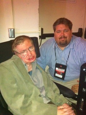 Attorney Brehmer with Stephen Hawking